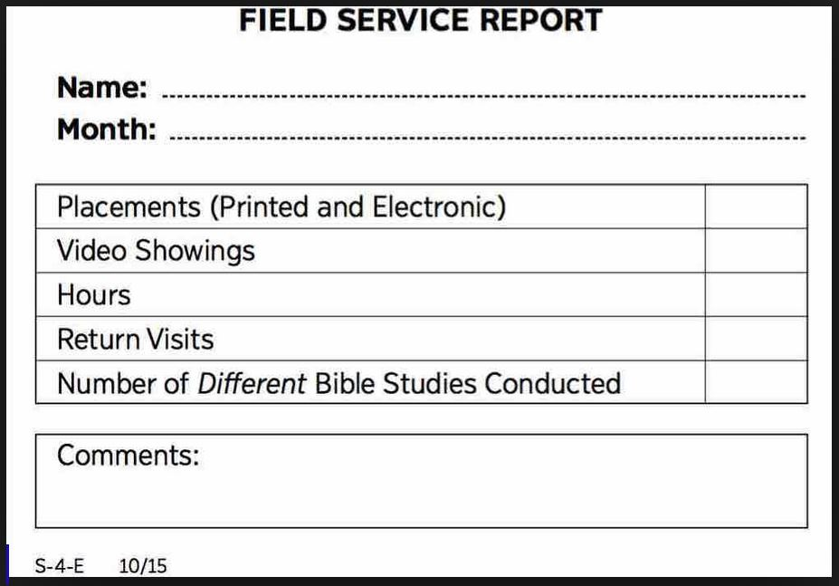 should you report field service field service organizer - Field Service Organizer
