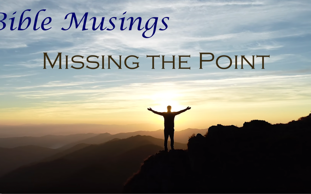 Bible Musings: Are we missing the point?